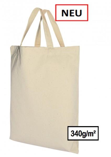 Canvas- Baumwolltasche 340g/m²,kurze Henkel