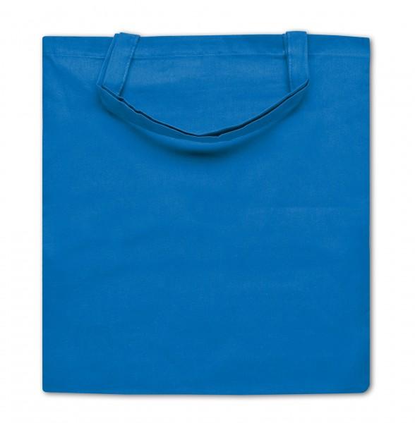 Baumwolltaschen, Einkaufstaschen, kurze Henkel hellblau 53