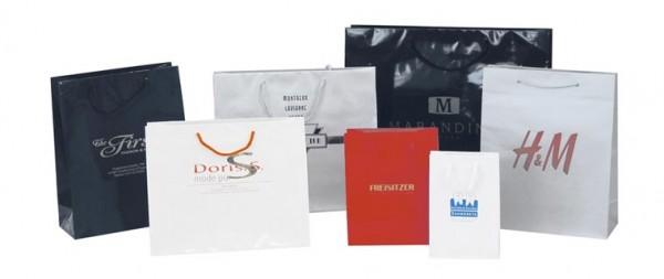 Bedruckte Papiertaschen