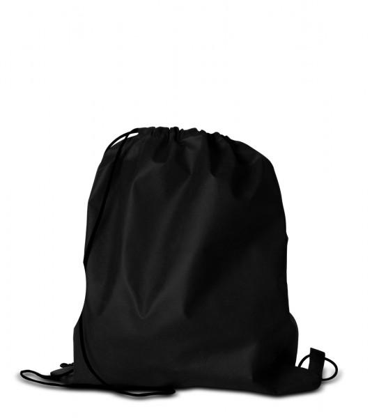 Hipster Bag, Rucksack, Turnbeutel, non woven 70 schwarz