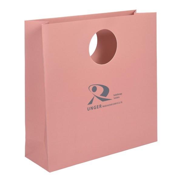 Papiertasche Avantgarde B,runder Griff,rosenholz, Druckbeispiel