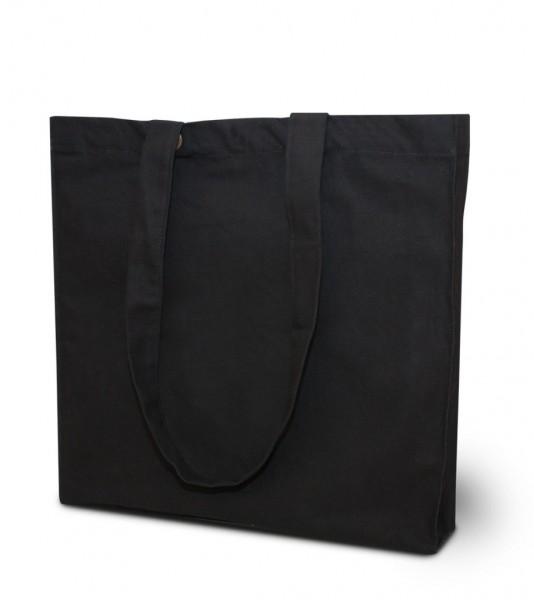 Extra schwere Baumwolltaschen-lange Henkel,  schwarz