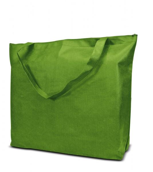 Non woven Tasche mit Reissverschluss71-42 gruen