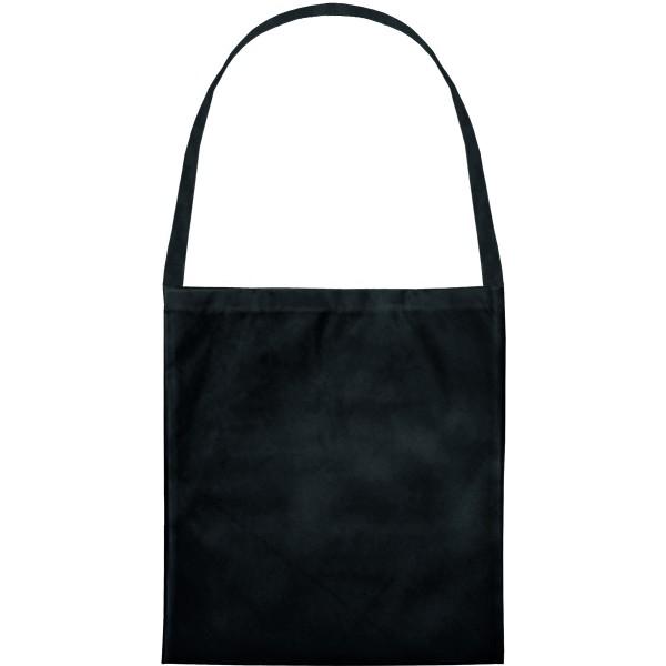Baumwolltasche,Umhängetasche,  ein langer Henkel,schwarz Art 70-70