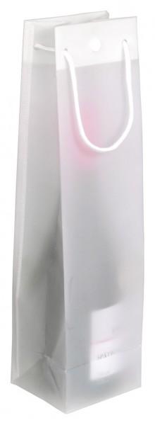 Flaschentasche L ,Weißtransparent