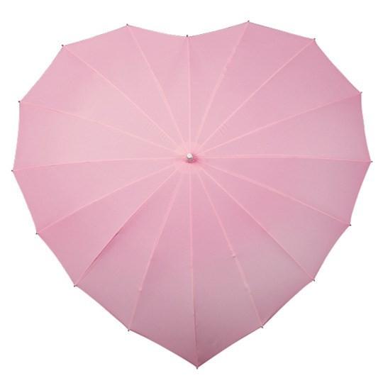 Herzregenschirm rosa 8011