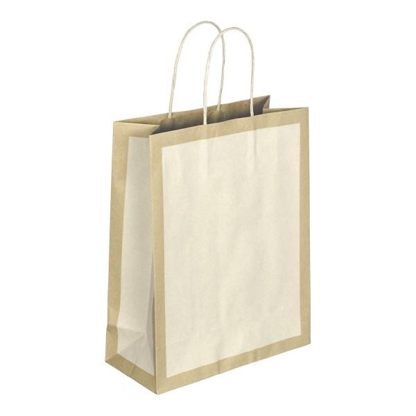 Papiertasche Eco A elfenbein