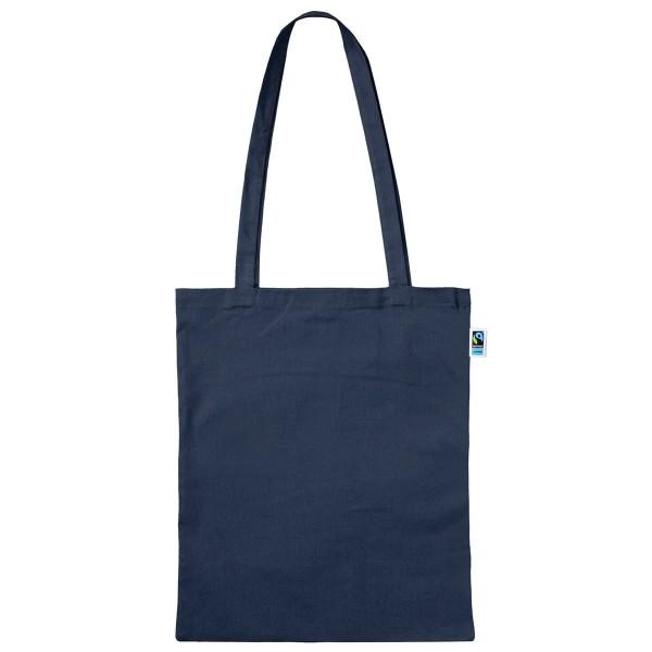 Fairtrade Baumwolltasche lange Henkel dunkelblau